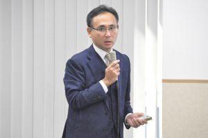 日本貿易会で新村が講演しました。